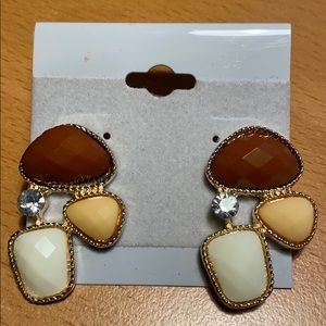 Jewelry - NWT Earth tone Stud Earrings